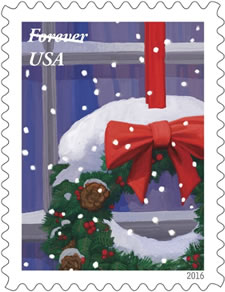 wreath forever stamp
